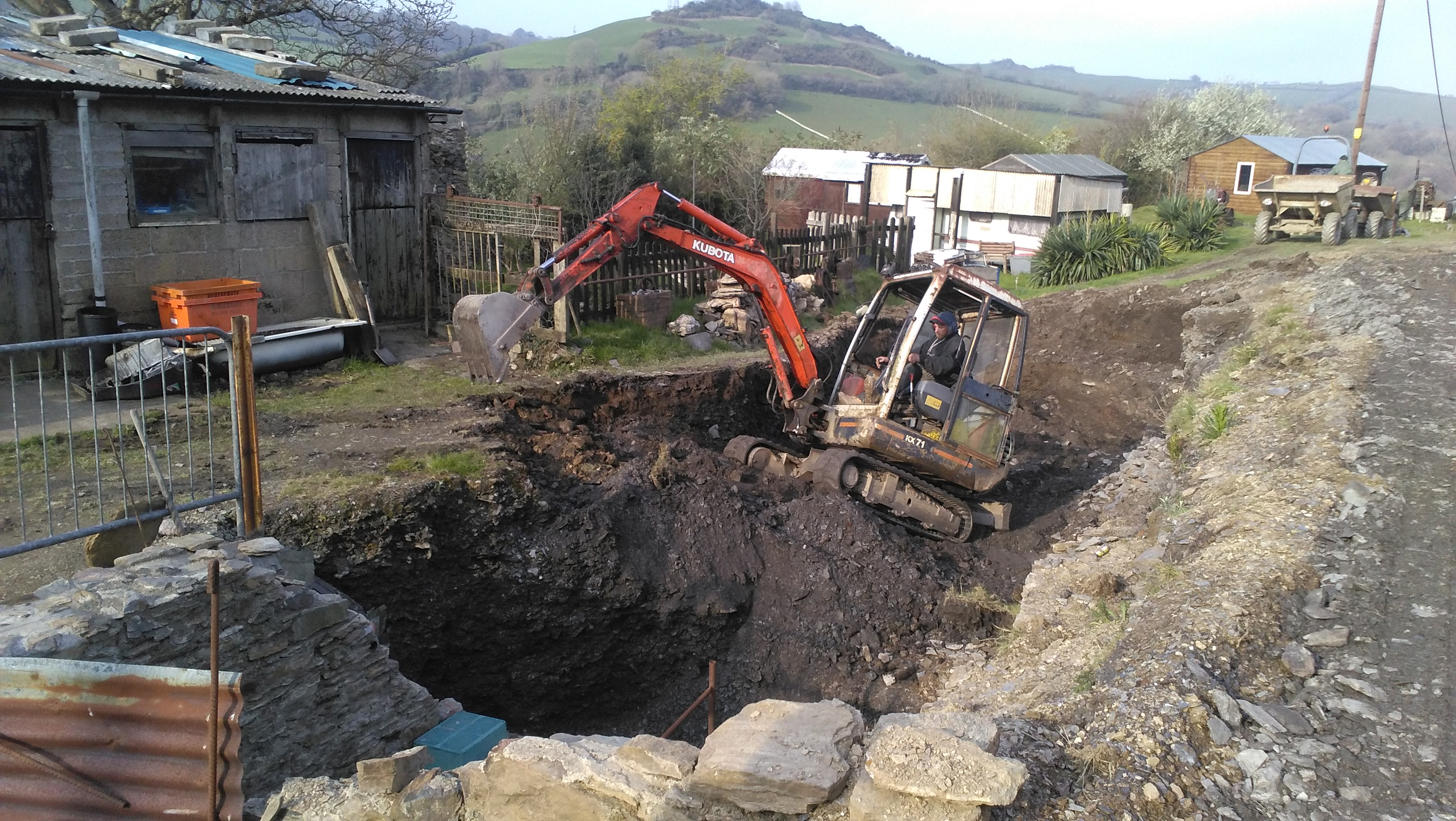 Excavations above ground -Combe Martin Silver Mine