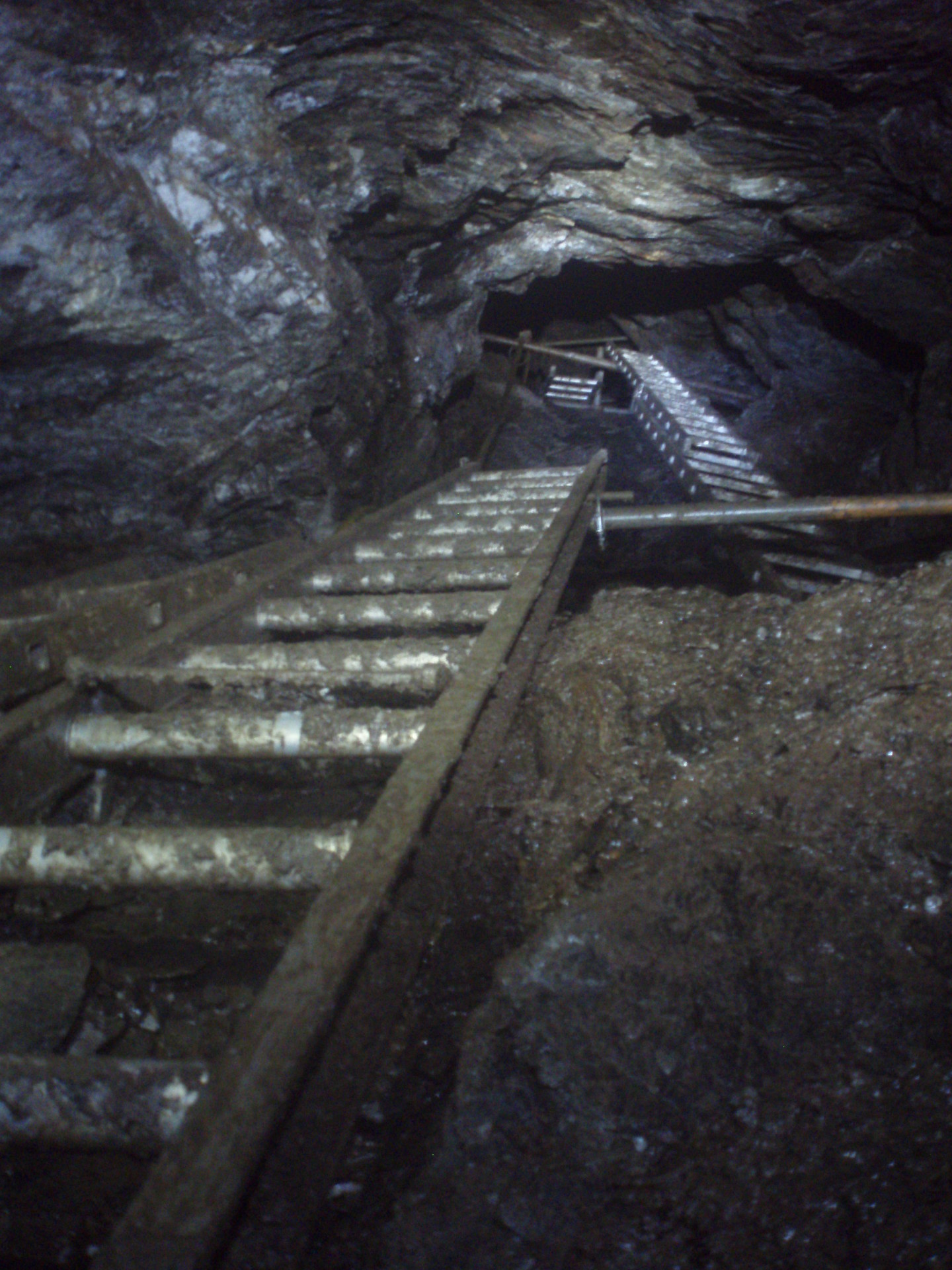 Ladders Down - Mine Shaft - Combe Martin Miners
